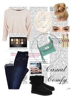 """Causal Comfy"" by jessicawednesday ❤ liked on Polyvore featuring UGG Australia, Athleta, Symeli, Maybelline, Yves Saint Laurent and Floss Gloss"