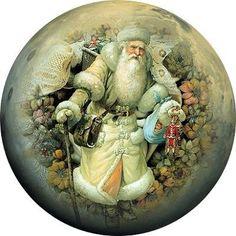 Новогодние круглые картинки для шаров.