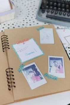 polaroid livre d'or livre kraft mariage