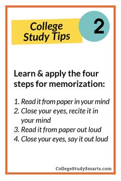 Learn & apply the four steps for memorization  | Memorization Tips + Exam Prep, memorization, memorization tips, memorization strategies, memorize better, memorize easier memorization for exams, study tips, study skills, study habits, online study tips, online exam memorization