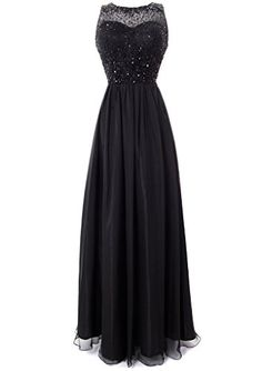 Fiesta Formals Long Chiffon Evening Gown with Gems on an Illusion Neckline - Black - XS Fiesta Formals http://www.amazon.com/dp/B00LVEZRRU/ref=cm_sw_r_pi_dp_Jss2tb18ZGVZ5XCK