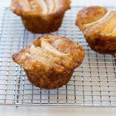 Our Grandma's Special Dutch Apple Cheese Muffins are filled with a surprising filling—cheddar cheese and apple—then brushed with a cinnamon glaze.
