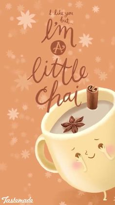 A little Chai? No I am a lot CHAI :P . I am a shy girl but I am trying my bestest to not be so shy and to be more open with my feelings to others (family & not). - I'm a lot shy and Ryan knows U_U I shore do miss you RyRy XOXOXXXX Funny Food Puns, Food Jokes, Punny Puns, Food Humor, Puns Jokes, Chai, Snapchat, Funny Koala, Koala Meme