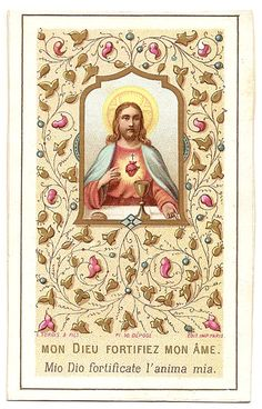 Sacred Heart of Jesus Communion Antique French & by 12StarsVintage
