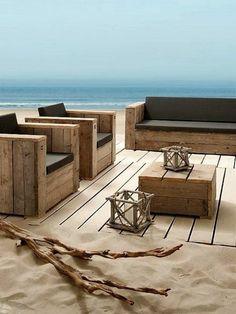 salon de jardin en palette, meuble en palette, fabriquer des meubles avec des palettes