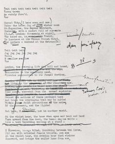 T. S. Eliot's manuscript of The Waste Land.