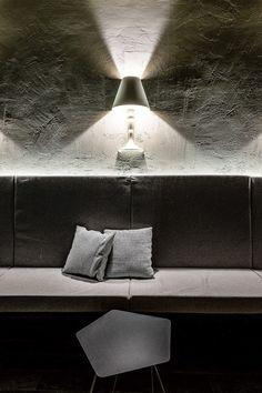Tectonic coffee table design Alain Gilles #Bonaldo for CORTEN LUXURY SHELTER Sansicario, project by Matteo Italia / Italia and Partners architecture and design, pics Federico Moschietto