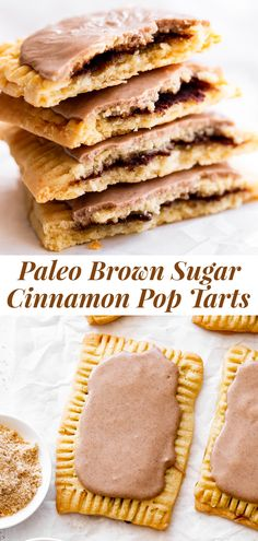 The ultimate healthier version of the absolute best nostalgic treat is here! These brown sugar cinnamon pop tarts taste so much like the originals but without any of the unhealthy ingredients! They're made gluten free and grain free with dairy free and paleo options. A fun from-scratch healthy baking project for kids to help with. #paleo #paleobaking #paleotreats #glutenfree #glutenfreebaking #healthybaking Paleo Baking, Gluten Free Baking, Baking Recipes, Paleo Recipes, Yummy Recipes, Clean Eating Desserts, Healthy Desserts, Brown Sugar Pop Tarts, Cinnamon Pop Tart