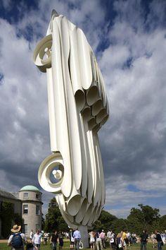 Jaguar Sculpture | Gerry Judah  http://www.arch2o.com/jaguar-sculpture-gerry-judah/