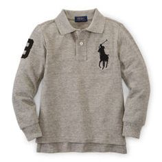 Big Pony Long-Sleeved Polo - Boys 2-7 Polo Shirts - RalphLauren.com