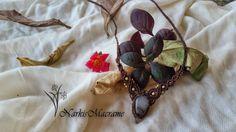 macrame necklace brown boho necklace tribal by NarkisMacrame