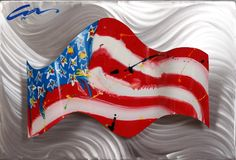 "America ""Wave""  Welded aluminum wall sculpture  $750"