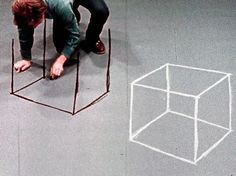 """youtreau:  """"David Haxton (b. 1943), still from Cube and Room Drawings, 1976-77.  """""""
