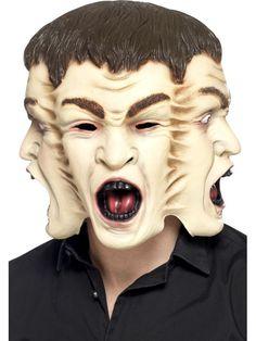 Masque aux 3 visages adulte Halloween : Ce masque intégralpour adulte représente 3 visages. 100% latex, il possède des ouvertures au niveau de yeux (sur un visage), du nez, de la bouche et des oreilles. Il... #masques