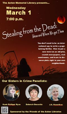 Stealing from the Dead poster image. All text on image is repeated on the webpage.