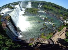 fisheye aerial of iguazu falls brazil argentina Iguazu Falls: 15 Amazing Pictures, 10 Incredible Facts