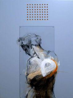 "Mostafa Darehbaghi""Fast Figure III""30 x 40"
