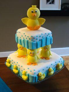 gâteau avec canards / Duck Cake