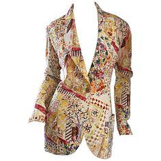 Emanuel Ungaro Vintage ' Garden Print ' Lightweight Silk Floral Blazer Jacket | From a collection of rare vintage jackets at https://www.1stdibs.com/fashion/clothing/jackets/