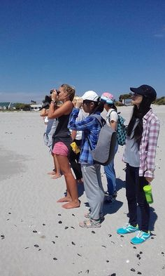 Afternoon bird monitoring on beautiful Langebaan lagoon beach with clear skies and white sand. #ctrci #capetownvolunteer