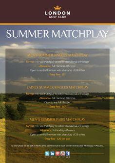 Members Summer Matchplay
