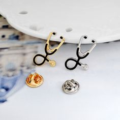 bcd1c94c1 Mini Stethoscope Enamel Pins ~ Cute Fashion Brooch to pin to your Jacket,  Hat,
