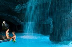 Brides.com: The World's Sexiest Pools for Couples. Big Island, Hawaii: Hilton Waikoloa Village. This classic Hawaiian honeymoon resort offers three over-the-top, freshwater pools—plus a four-acre, ocean-fed saltwater lagoon, great for kayaking. At the Kona pool, you can tackle a 175-foot slide, play underneath waterfalls—and then get a mai tai at the swim up bar. The Kohala River Pool is really four in one, connected by a cool, lazy river. And at the Ocean Tower, it's all adults, all the…