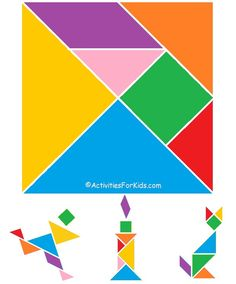 "Celebrate the Chinese culture with a printable Tangram puzzle, ""Seven Pieces of Cleverness."" Printable tangrams activity to celebrate the Chinese New Year. Chinese New Year Crafts For Kids, Chinese New Year Activities, Chinese Crafts, New Years Activities, Activities For Kids, Art For Kids, Tangram Printable, Printable Puzzles For Kids, Kids Puzzles"