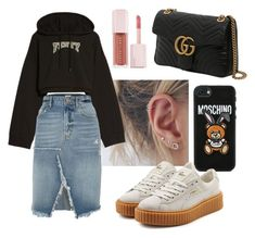 """""""Untitled #5"""" by raluca-daniela-i on Polyvore featuring Gucci, Moschino, Puma and River Island"""