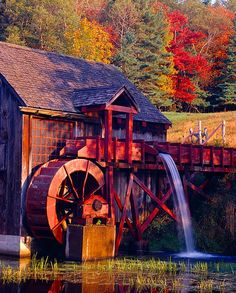 Grist Mill- Guildhall, Vermont -- Vermont Maid - the sweet taste of maple syrup! - www.vermontmaid.com #photography #vermont #vermontmaid