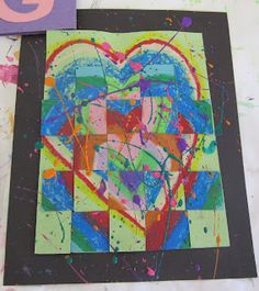 Jim dine hearts with splatter