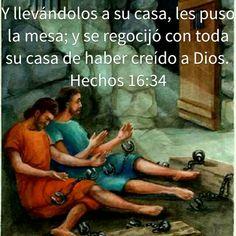 Hechos 16:34