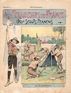 Protège cahier.  Les éclaireurs de France