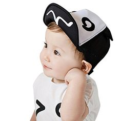 fe81f0d9d49 Amazon.com  Binmer(TM) Kids Baby Summer Mesh Soft Brim Flanging Sun Hat  Baseball Cap (black )  Clothing