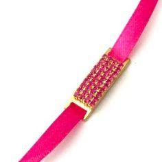Dazzling Pink Crystal Band Rakhi / Wrist band
