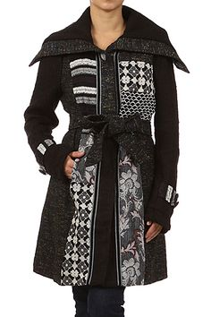 Black Soft Long Sleeve Printed Buttoned Closer Jackets