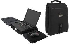 Quiksilver Premium Workstation - laptop bag becomes desk : Tech Digest