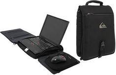 Quiksilver Premium Workstation - laptop bag becomes desk : Tech Digest