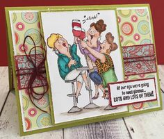 Art Impressions: Ai Girlfriends: Hampton Art clear sets at Michael's ... Wine Diva sku# SC0677  handmade friendship card.