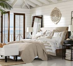 Adella Upholstered Platform Bed & Headboard | Pottery Barn