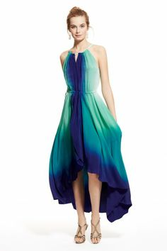 Felicity Dip Dye Silk Dress, by Calypso St. Barth. I'm loving the colors of this dress :)