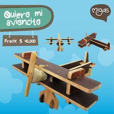 Quiero mi avioncito. #JugueteInteractivo #Volar #MigasDesign