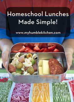 Homeschool Lunches Made Simple #recipe via myhumblekitchen.com #mightynest #letsdolunch