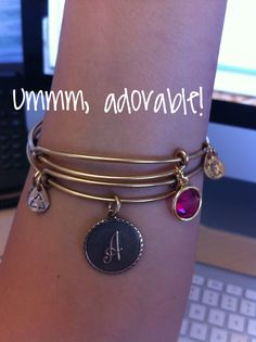 Alex and Ani ❤️ Trade out 'A' for 'K', but love the pink birthstone color regardless of the month it represents.