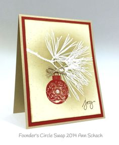 Stampin up stampin' up! stamping stamping pretty mary fish ornamental pine, Christmas - SU - by Ann Schach