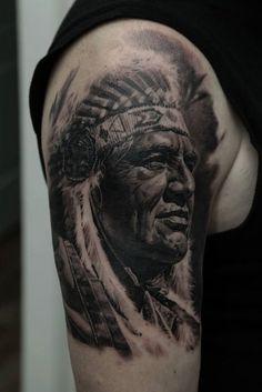 Native American Sleeve Tattoo-6