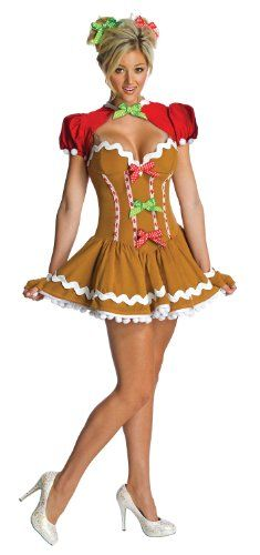 woman sassy gingerbread christmas halloween costume from 22