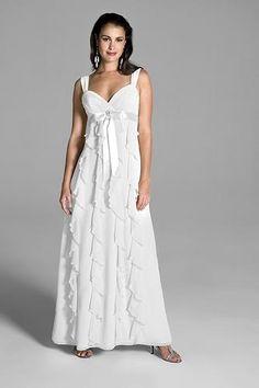 Robe de mariée Empire en mousseline avec ceinture