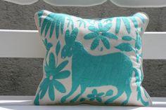 Aqua Otomi Pillow ShamReady to ship by CasaOtomi on Etsy, $72.00