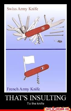I should get a french army knife... :)
